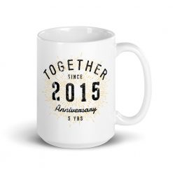 5th Anniversary Mug by Treaja by Treaja®
