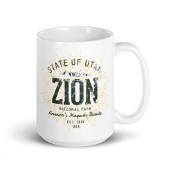 Zion National Park Mug by Treaja® | Vintage Zion National Park Souvenir