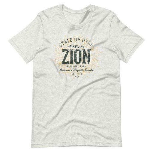 Zion National Park T-Shirt by Treaja®   Unisex Vintage Zion National Park Souvenir