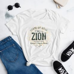 Zion National Park Women's t-shirt by Treaja® | Vintage Zion National Park Souvenir for Women
