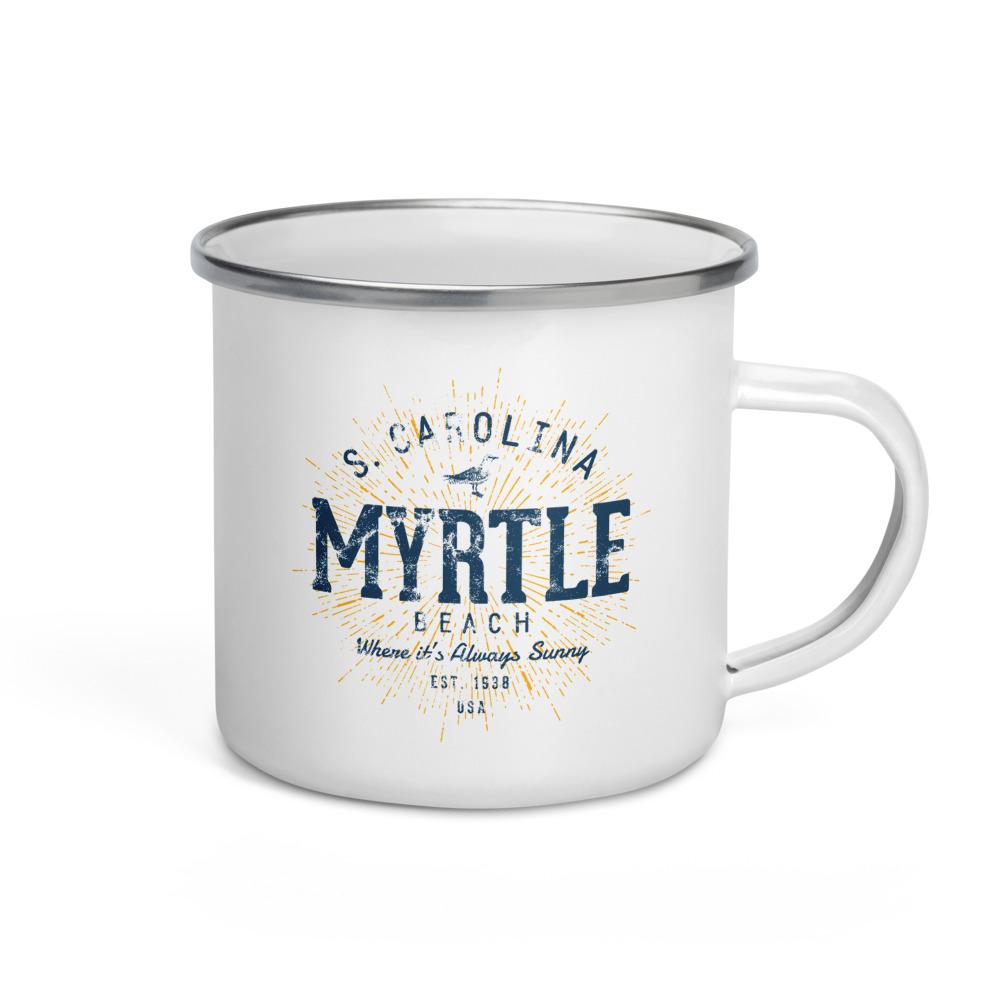 Myrtle Beach Enamel Mug by Treaja®   Vintages Myrtle Beach South Carolina Camper Mug