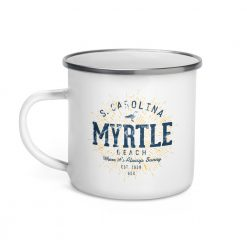 Myrtle Beach Enamel Mug by Treaja® | Vintages Myrtle Beach South Carolina Camper Mug