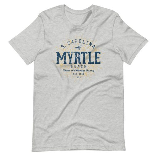Myrtle Beach T-Shirt by Treaja® | Unisex Vintage Myrtle Beach Souvenir
