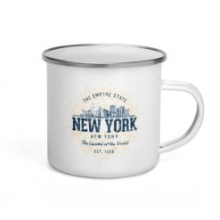 New York Enamel Mug by Treaja® | Vintage New York Camper Mug