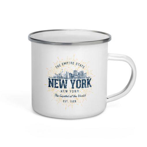 New York Enamel Mug by Treaja® | Vintage New York Camper Mug