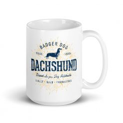 Dachshund Mug by Treaja® | Vintage Dachshund Dog Lover Coffee Mug