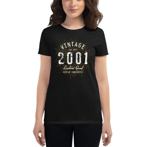 Vintage 20th Birthday T-Shirt for Women by Treaja® | 20 Year Old Birthday Shirt for Women