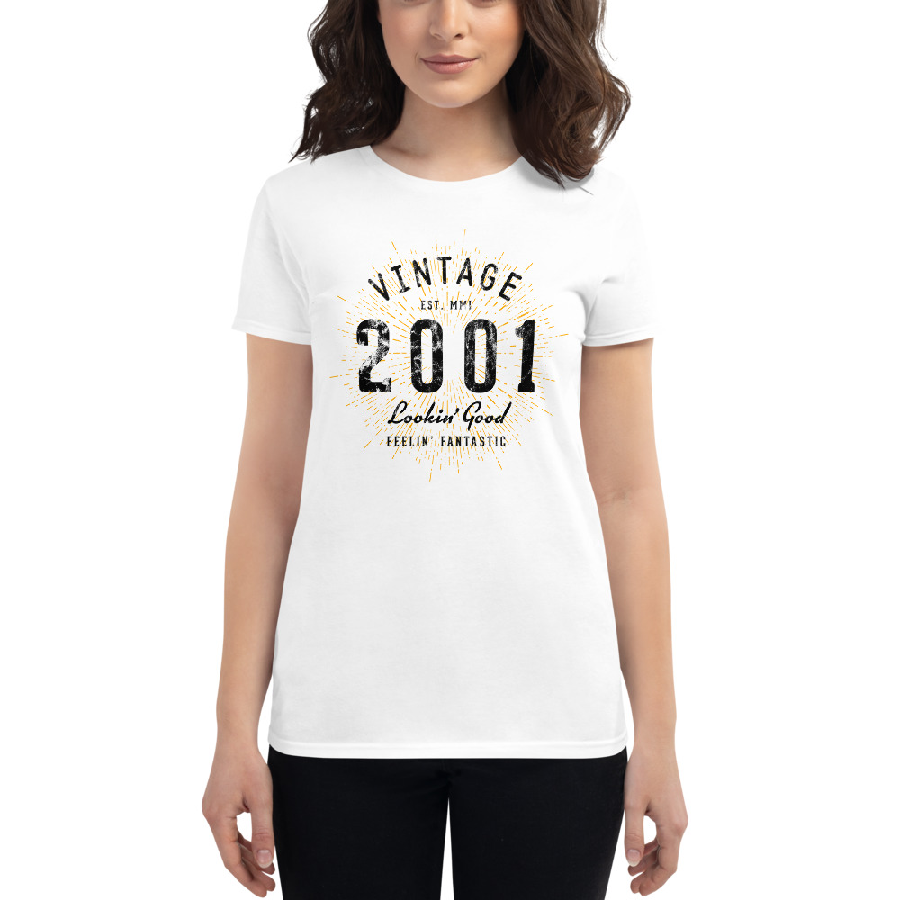 Vintage 20th Birthday T-Shirt for Women by Treaja®   20 Year Old Birthday Shirt for Women